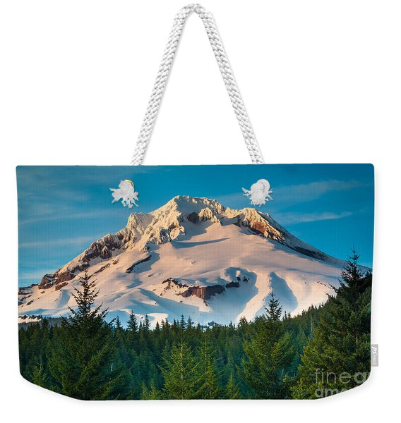 Mount Hood Winter Weekender Tote Bag