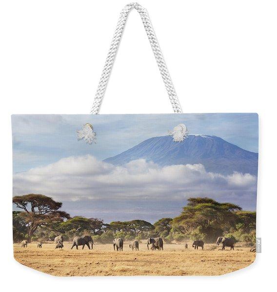 Mount Kilimanjaro Amboseli  Weekender Tote Bag