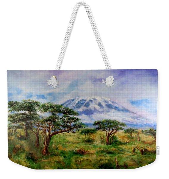 Mount Kilimanjaro Tanzania Weekender Tote Bag