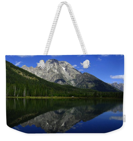 Mount Moran And String Lake Weekender Tote Bag