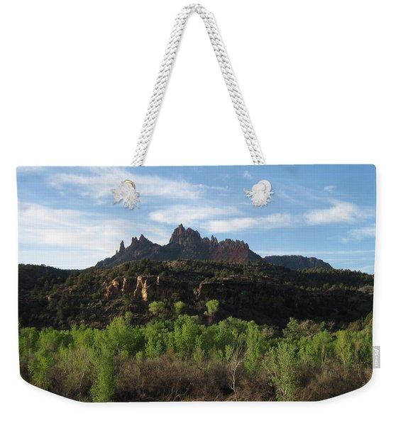 Mount Purple  Weekender Tote Bag