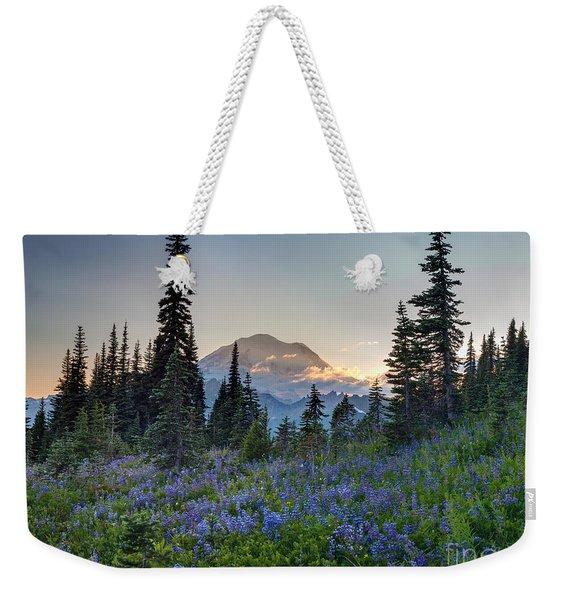 Mount Rainer Flower Fields Weekender Tote Bag