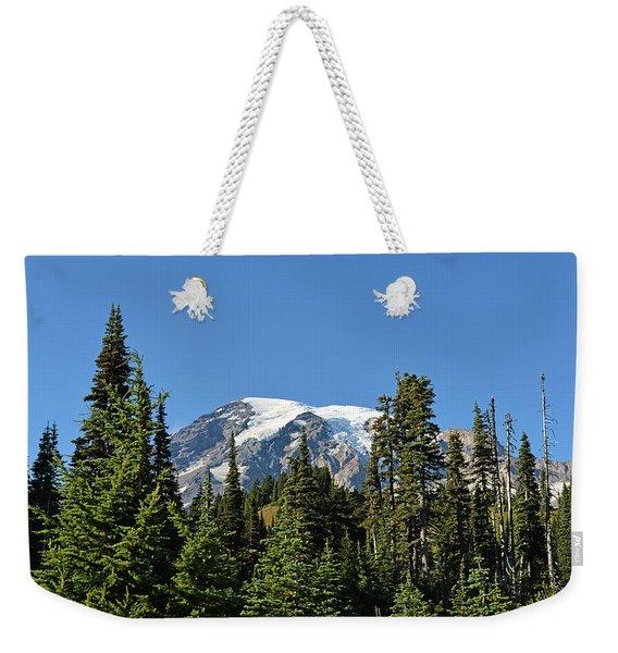 Mount Rainier Evergreens Weekender Tote Bag
