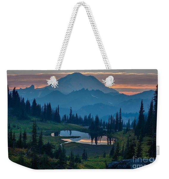 Mount Rainier Layers Weekender Tote Bag