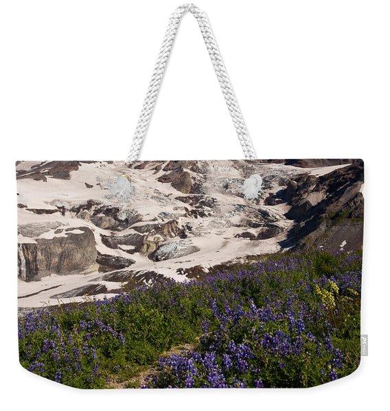 Mount Rainier Wildflower Meadows Weekender Tote Bag