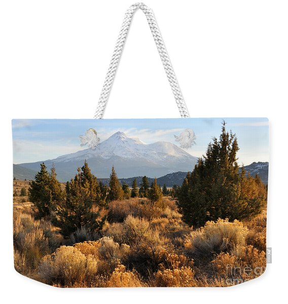 Mount Shasta In The Fall  Weekender Tote Bag