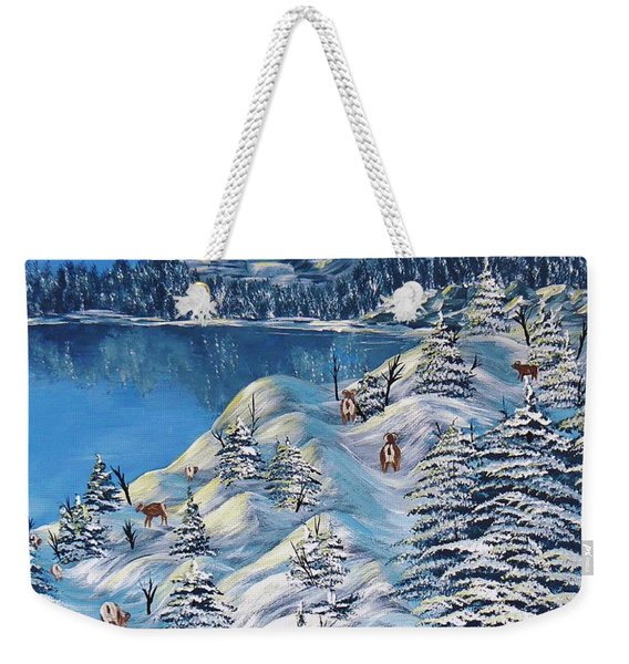 Mountain Goats Of Grand Forks Weekender Tote Bag