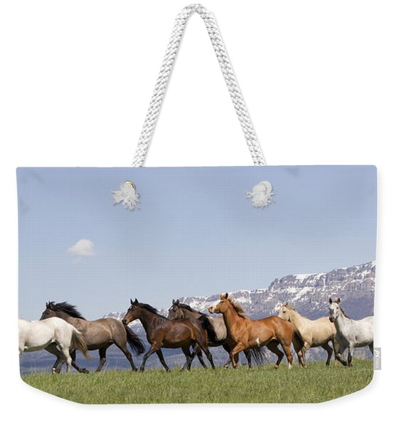 Mountain Horses Weekender Tote Bag
