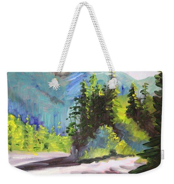 Mountain Light Weekender Tote Bag