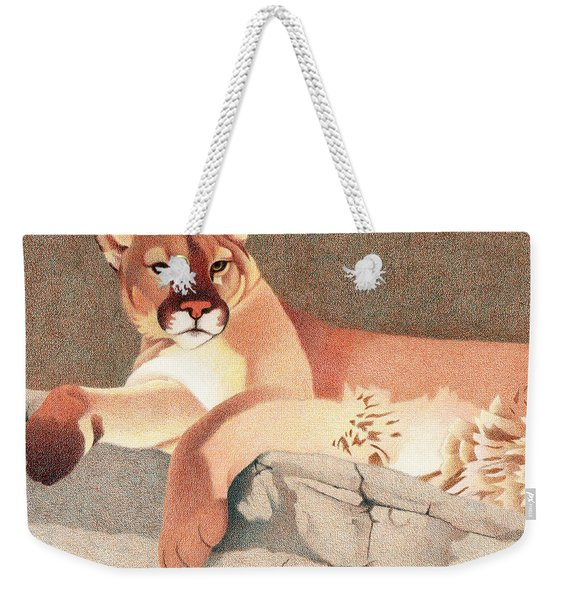 Mountain Lion Weekender Tote Bag