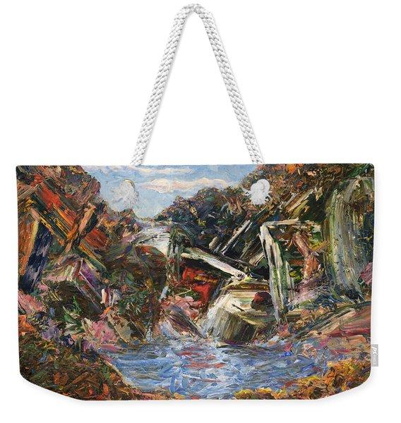 Mountain Pool Weekender Tote Bag