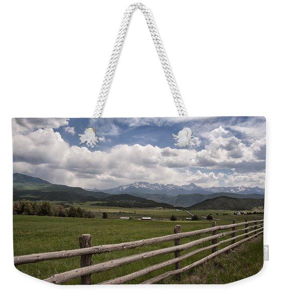 Mountain Ranch Weekender Tote Bag