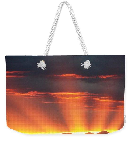 Mountain Rays Weekender Tote Bag