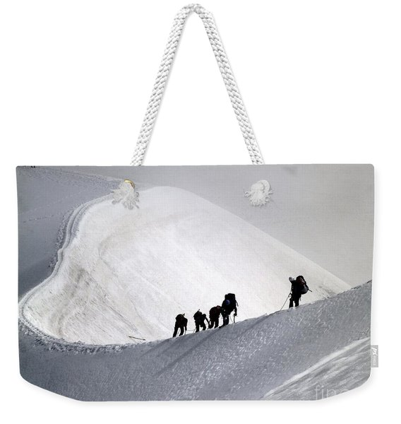 Mountaineers To Conquer Mont Blanc Weekender Tote Bag