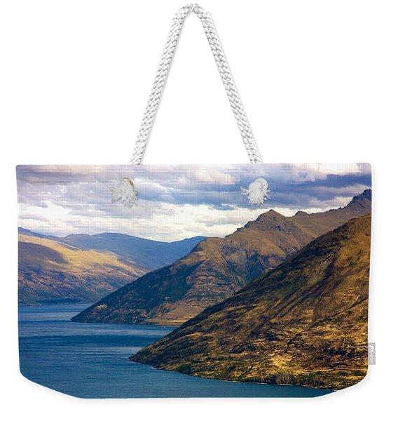 Mountains Meet Lake Weekender Tote Bag