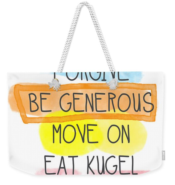 Move On And Eat Kugel Weekender Tote Bag