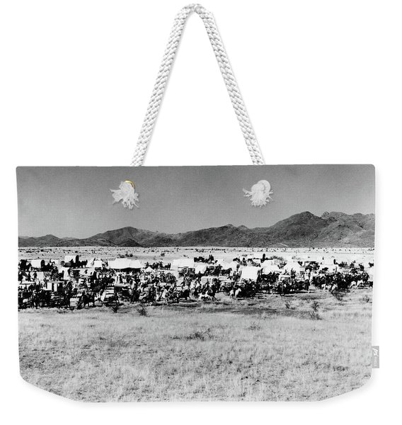 Movie Still Of The Starting Line Weekender Tote Bag