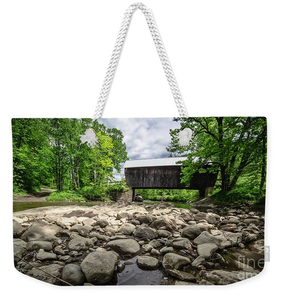 Moxley Covered Bridge Chelsea Vermont Weekender Tote Bag