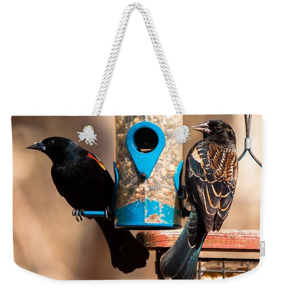 Mr. And Mrs. Red Winged Blackbird Weekender Tote Bag
