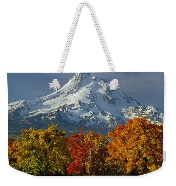1m5117-mt. Hood In Autumn Weekender Tote Bag