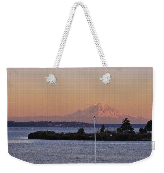 Mt. Rainier Afterglow Weekender Tote Bag
