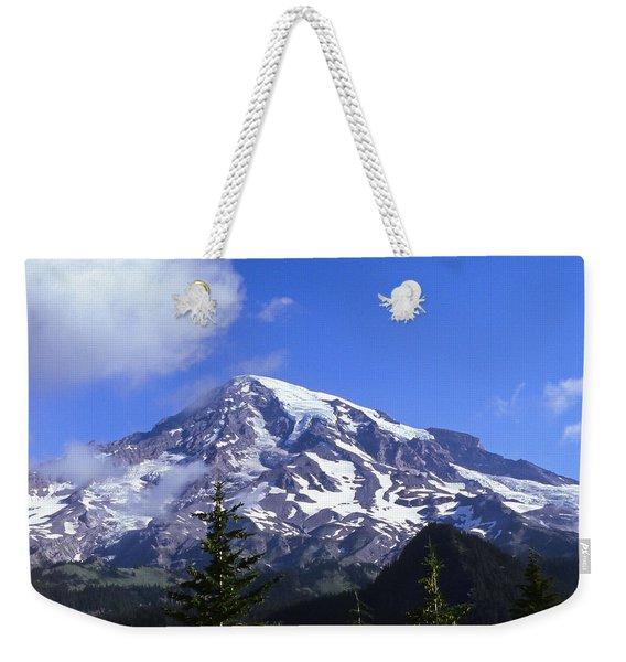 Mt. Rainier Weekender Tote Bag