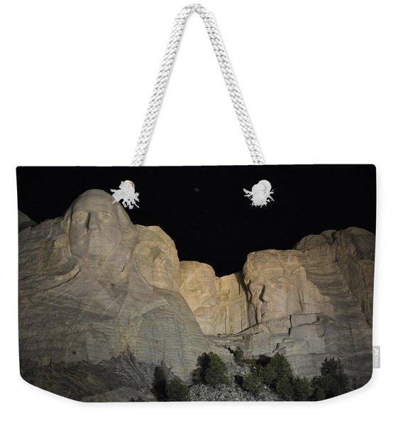 Mt. Rushmore At Night Weekender Tote Bag