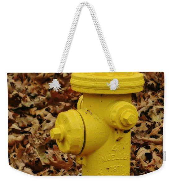 Mueller Fire Hydrant Weekender Tote Bag