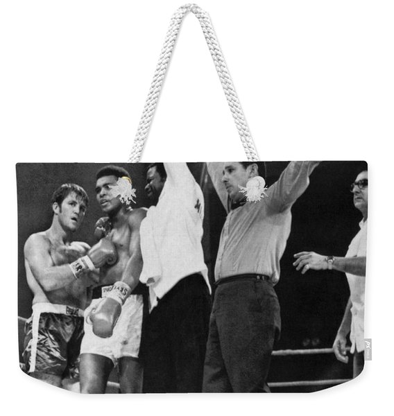 Muhammad Ali And Jerry Quarry Weekender Tote Bag