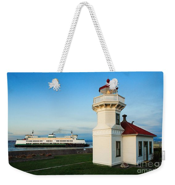 Mukilteo Ferry And Lighthouse Weekender Tote Bag