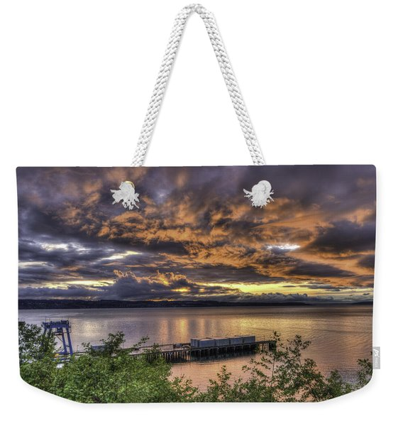 Mukilteo Sunset Weekender Tote Bag
