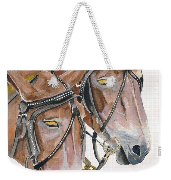 Mules - Two - Beast Of Burden Weekender Tote Bag