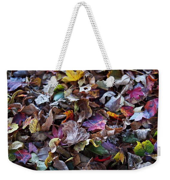 Multicolored Autumn Leaves Weekender Tote Bag