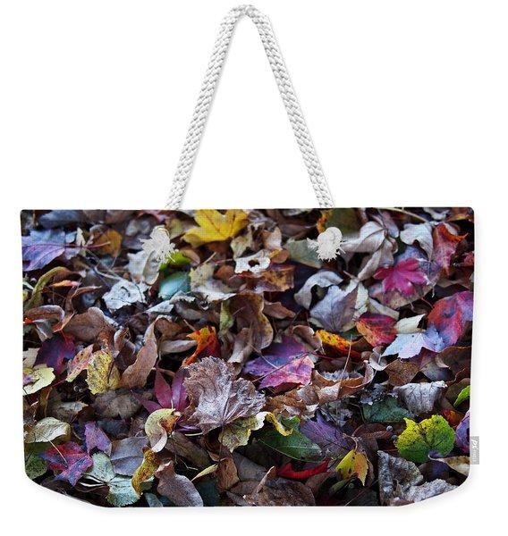 Multicolored Autumn Leaves Weekender Tote Bag