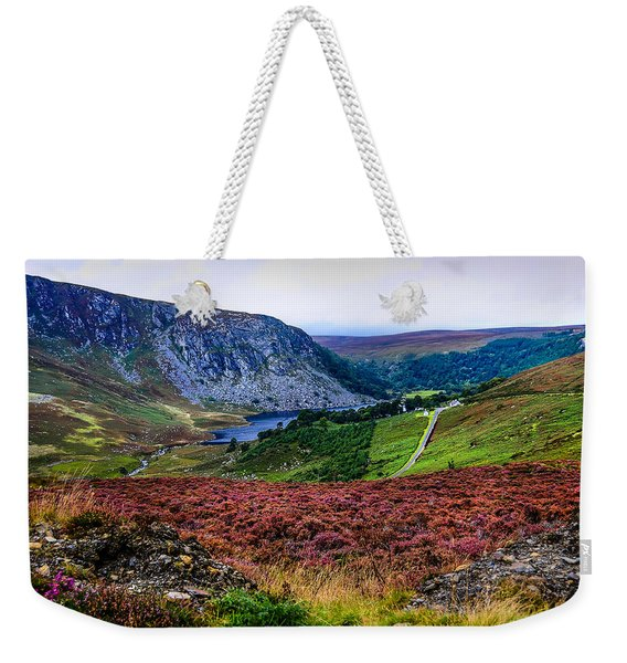 Multicolored Carpet Of Wicklow Hills. Ireland Weekender Tote Bag