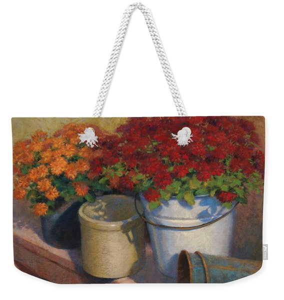 Mums On A Bench Weekender Tote Bag