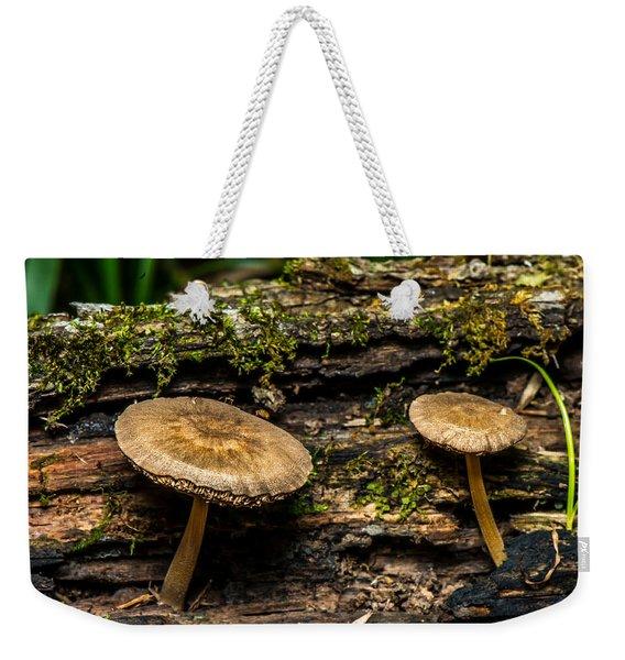 Mushrooms In The Forest Weekender Tote Bag