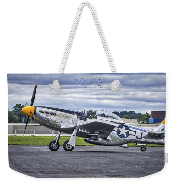 Mustang P51 Weekender Tote Bag