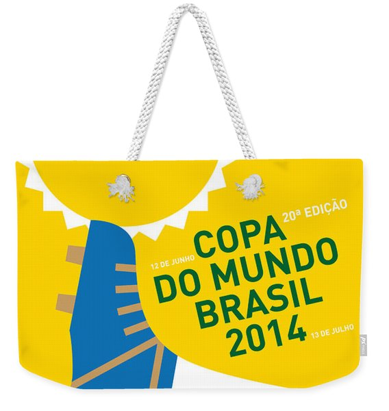My 2014 World Cup Soccer Brazil - Rio Minimal Poster Weekender Tote Bag