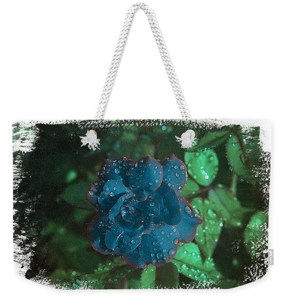 My Blue Rose Weekender Tote Bag
