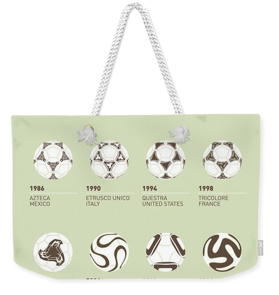 My Evolution Soccer Ball Minimal Poster Weekender Tote Bag