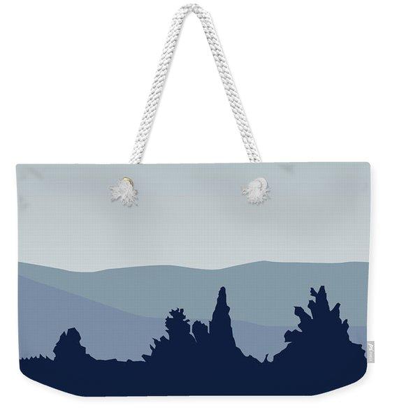 My I Want To Believe Minimal Poster- Tardis Weekender Tote Bag