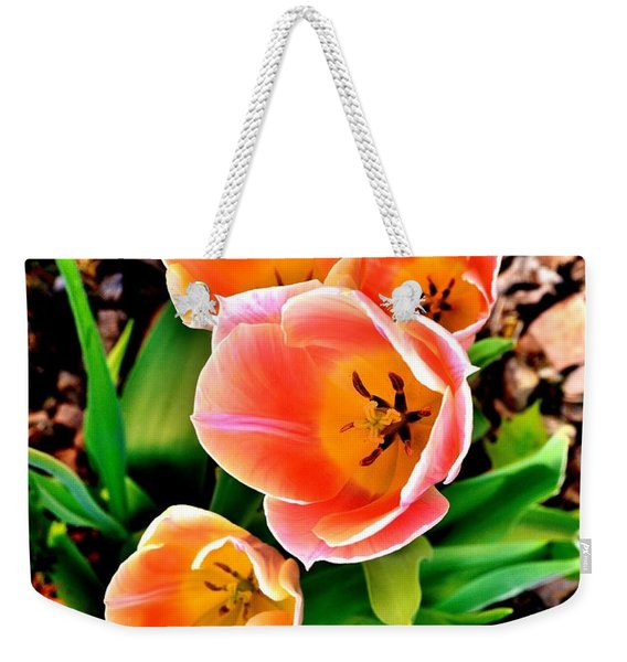 My Mom's Tulips Weekender Tote Bag