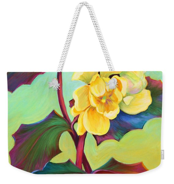 Weekender Tote Bag featuring the painting My Oregon Grape by Sandi Whetzel