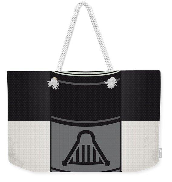 My Star Warhols Darth Vader Minimal Can Poster Weekender Tote Bag