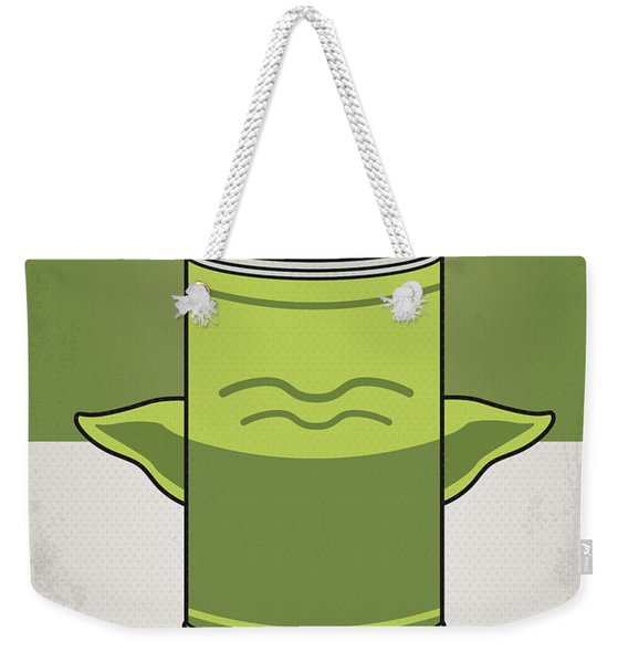 My Star Warhols Yoda Minimal Can Poster Weekender Tote Bag