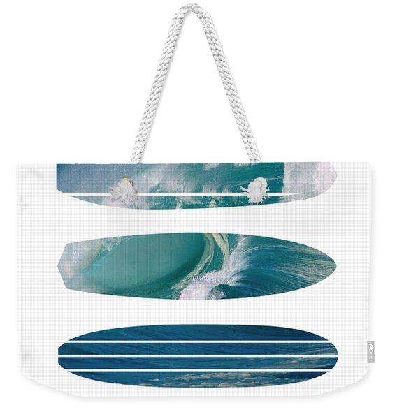 My Surfspots Poster-5-devils-point-tasmania Weekender Tote Bag