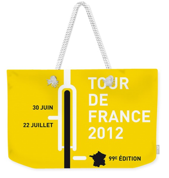 My Tour De France 2012 Minimal Poster Weekender Tote Bag