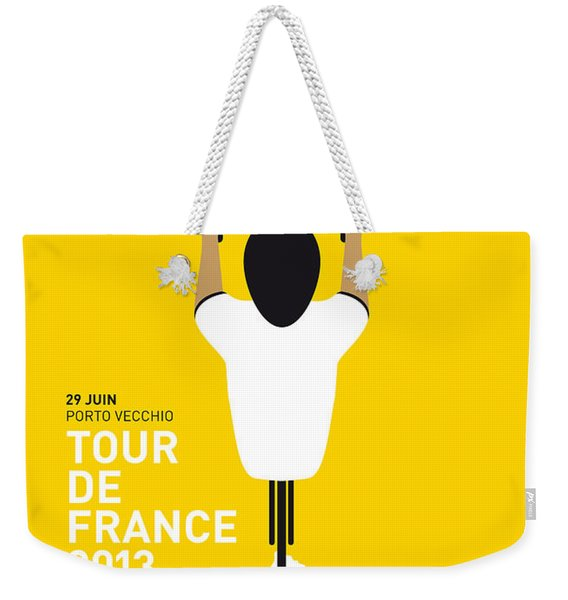 My Tour De France Minimal Poster Weekender Tote Bag