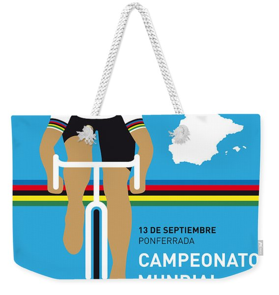 My Uci Road World Championships Minimal Poster 2014 Weekender Tote Bag